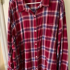 Soft Flannel/plaid plus size shirt